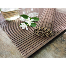 Load image into Gallery viewer, Handmade Medium Wide Dark Brown Bamboo Placemats (Set of 4) - Meraki Cole Company
