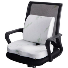 Load image into Gallery viewer, Bamboo Fiber Memory Foam Lumbar Support Seat Cushion
