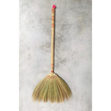 "Load image into Gallery viewer, 2 Piece Adjustable Broom Asian Handmade Natural Grass Broom with Bamboo Handle 26 or 40 Inch Length - 40"" Length Product View - Meraki Cole Company"