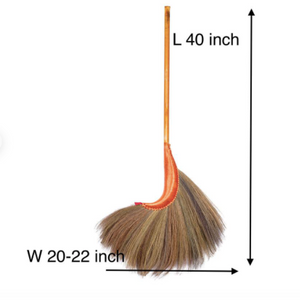 Thai Traditional Witch Grass Broom 40 Inch Length