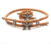Load image into Gallery viewer, Natural Cork Starfish Bracelet and Ring - Meraki Cole Company