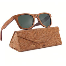 Load image into Gallery viewer, Cork Wood Polarized Sunglasses - Meraki Cole Company