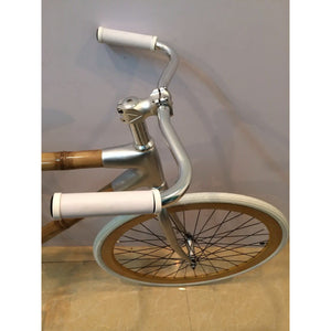 Bamboo Bike White Fixie - Meraki Cole Company
