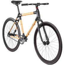 Load image into Gallery viewer, Bamboo Bike Black Fixie Wooden Bicycle - Meraki Cole Company