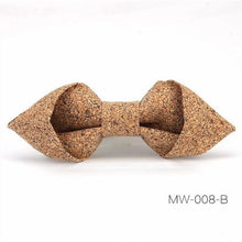 Load image into Gallery viewer, Geometric Cork Bow Tie - Meraki Cole Company