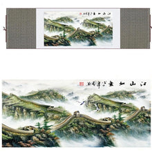 Load image into Gallery viewer, Great Wall of China Silk Art Painting - Meraki Cole Company