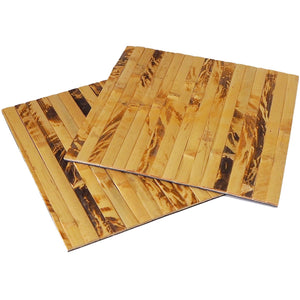 Natural Bamboo Wood Square Placemats (Set of 2) - Meraki Cole Company
