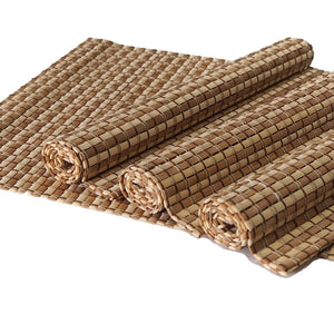 Handmade Bamboo Placemats (Set of 4) - Color Natural/Medium - Meraki Cole Company