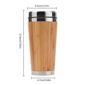 Bamboo Stainless Steel Insulated Travel Mug