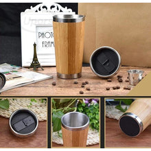 Load image into Gallery viewer, Bamboo Stainless Steel Insulated Travel Mug - Meraki Cole Company