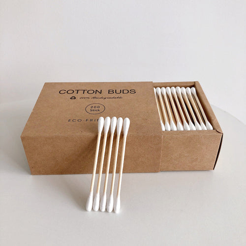 Double Head Bamboo Cotton Swabs (200 pcs.) - Meraki Cole Company
