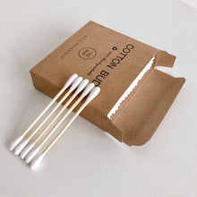 Load image into Gallery viewer, Double Head Bamboo Cotton Swabs (100 pcs.) - Meraki Cole Company