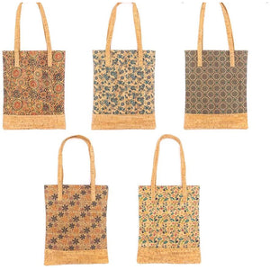 Colorful Reusable Eco-Friendly Cork Tote - Meraki Cole Company