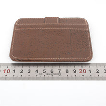 Load image into Gallery viewer, Natural Cork Snap Button Brown Slim Wallet