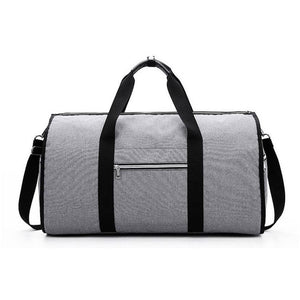 2 in 1 Duffel Garment Bag - Color Gray Front View - Meraki Cole Company