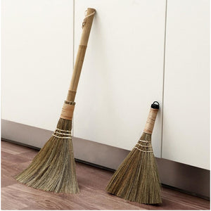 Handmade Straw Sweeping Duster Broom - Meraki Cole Company