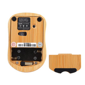2.4G Wireless Optical Bamboo Mouse