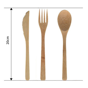 Reusable Bamboo Travel Utensil Set (3 to 7 Piece Sets) - Meraki Cole Company