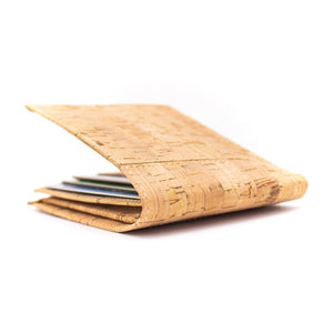 Eco-Friendly Cork Wallet for Men - Outside Side View - Meraki Cole Company