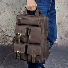 Load image into Gallery viewer, Mens Large Leather Travel Daypack - Meraki Cole Company