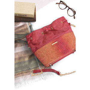 Womens Cork Messenger Handbag