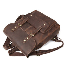 Load image into Gallery viewer, Vintage Leather Travel Backpack - Meraki Cole Company