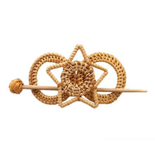 Load image into Gallery viewer, Vintage Bamboo Star Hair Clip