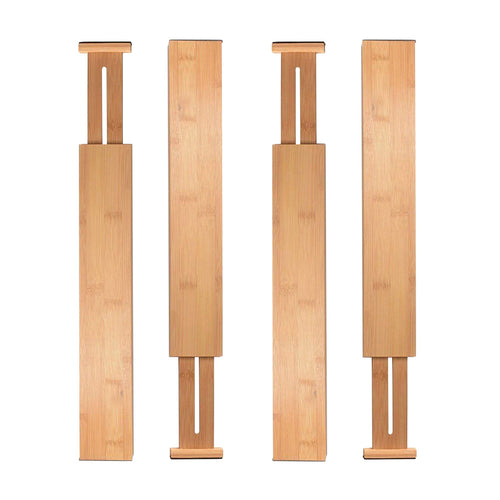 Bamboo Expandable Drawer Organizing Dividers (4 Piece Set) - Meraki Cole Company