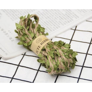 Jute Twine Rope Burlap Ribbon - Color Green - Meraki Cole Company