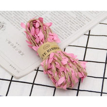 Load image into Gallery viewer, Jute Twine Rope Burlap Ribbon - Color Pink - Meraki Cole Company