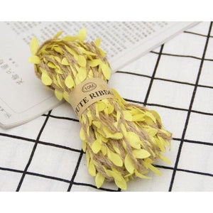 Jute Twine Rope Burlap Ribbon - Color Yellow - Meraki Cole Company