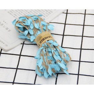 Jute Twine Rope Burlap Ribbon - Color Blue - Meraki Cole Company