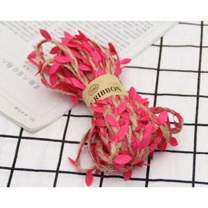 Jute Twine Rope Burlap Ribbon - Color Rose Red - Meraki Cole Company