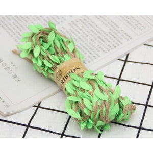 Jute Twine Rope Burlap Ribbon - Color Light Green - Meraki Cole Company