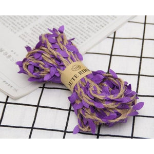 Jute Twine Rope Burlap Ribbon - Color Purple - Meraki Cole Company