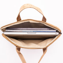 Load image into Gallery viewer, Natural Cork Laptop Work Bag