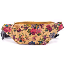 Load image into Gallery viewer, Cork Travel Belt Bag with Rose Print - Meraki Cole Company