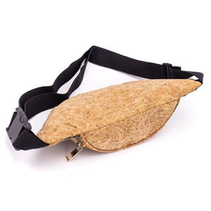 Cork Travel Belt Bag with Fish Print
