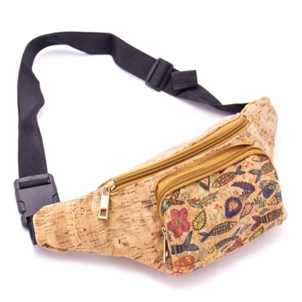 Cork Travel Belt Bag with Fish Pattern - Meraki Cole Company