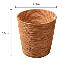 Load image into Gallery viewer, Handmade Rattan Laundry Storage Basket