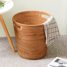 Load image into Gallery viewer, Handmade Rattan Laundry Storage Basket - Meraki Cole Company