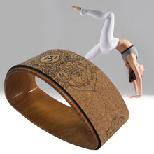 Load image into Gallery viewer, Yoga Half-Round Cork Fitness Wheel