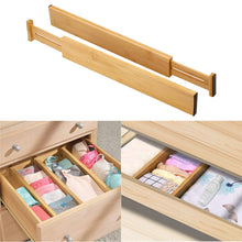 Load image into Gallery viewer, Bamboo Expandable Drawer Organizing Dividers (6 Piece Set) - Meraki Cole Company