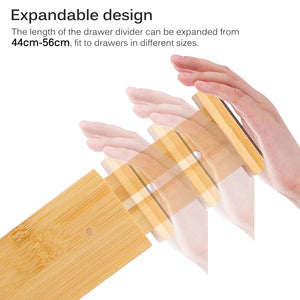 Bamboo Expandable Drawer Organizing Dividers (6 Piece Set) - Meraki Cole Company