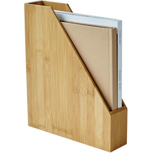 Bamboo Desktop File Storage Box - Meraki Cole Company