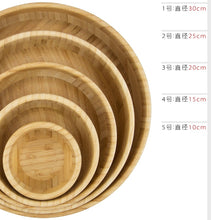 Load image into Gallery viewer, Natural Bamboo Wooden Salad Bowl
