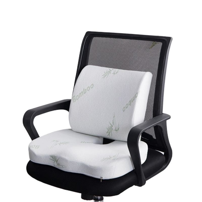 Bamboo Fiber Memory Foam Lumbar Support Seat Cushion