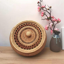 Load image into Gallery viewer, Handmade Rattan Weaving Storage Bowl with Lid - Meraki Cole Company