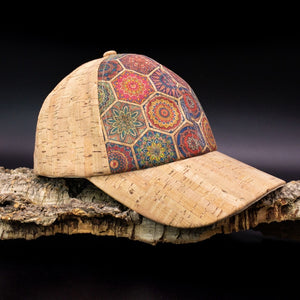 Natural Cork Patterned Baseball Hat