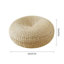 Load image into Gallery viewer, Straw Round Meditation Floor Cushion